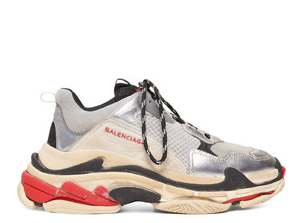 "BALENCIAGA スニーカー 【BALENCIAGA】入手困難 ☆ Triple S Trainer ""Silver Red""(6)"