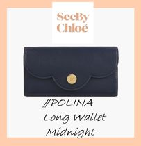 See by Chloe #POLINA#ロングウォレット【Midnight】