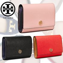 新作18SS★Tory Burch ROBINSON MEDIUM WALLET 折りたたみ財布