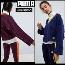 【PUMA】V Neck Oversized Sweatshirt With Popper Detail 2色♪