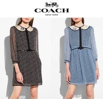 *COACH 1941*シルクワンピース Duck Geo Babydoll Dress