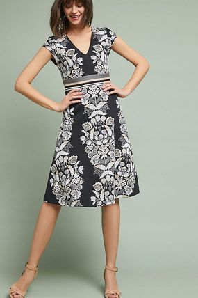 Anthropologie☆Soiree Embroidered Dress