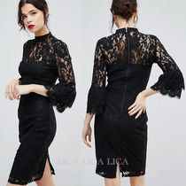 ASOS(エイソス) ワンピース 国内発送ASOS/Paper Dolls High Neck Midi Lace Dress