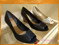 Tory Burch☆LOWELL 65MM PERFORATED  TOE WEDGE☆3色