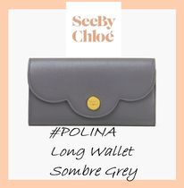 See by Chloe #POLINA#ロングウォレット【Sombre Grey】