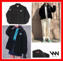 NEW★ブラック系【WV PROJECT] ★ REFLET WOOL COACH JACKET ★