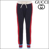 【GUCCI(グッチ)】Striped cotton-blend trackpants