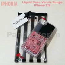 先取り★Liquid Case【送込IPHORIA】iPhone 7/8★Nail瓶PINKラメ