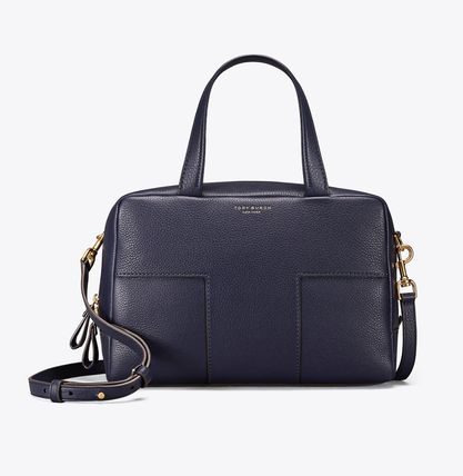 Tory Burch ハンドバッグ Tory Burch☆ブロックティー 2WAY Block-T Pebbled Zip Satchel (6)