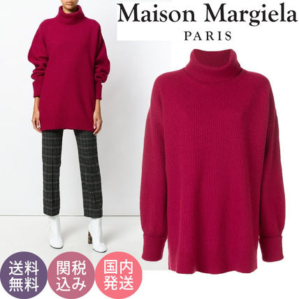 【送関込】Maison Margiela◆人気!袖パッチ付ゆったりセーター
