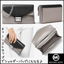 ★Michael Kors★Sloan Color-Block Leather Chain Wallet★