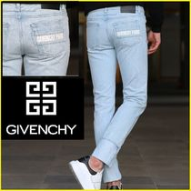 18SS★GIVENCHY★バックポケット★青カラー★ロゴ入りジーンズ