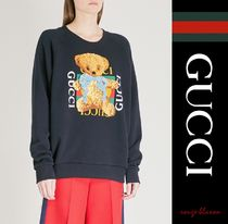 【国内発送】GUCCI パーカ Bear logo-motif cotton-jersey