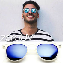 全8色*zeroUV*RETRO P3 HORNED RIM FRAME MIRRORED LENS SUNGLAS