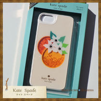 SALE! 【kate spade】可愛いオレンジ柄 iPhone7/6/6S/8ケース