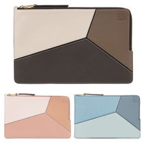 LOEWE 国内発送 Puzzle Flat Pouch 上品 クラッチバッグとしても