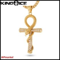 ★King Ice Apep and Ankh Cross ネックレス ゴールド【関送込】