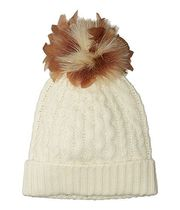 Ralph Lauren★Feather Pom Cashmere Blendニット帽★クリーム