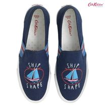 Cath Kidston★SHIP SHAPE SLIP ON TRAINER WHITBY WATERS NAVY