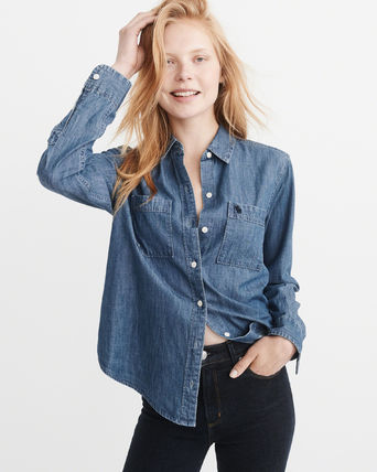Abercrombie & Fitch ブラウス・シャツ 【国内即発】*Abercrombie & Fitch* デニムシャツ(2)
