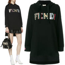 FE1909 LOGO EMBELLISHED COTTON JERSEY HOODIE