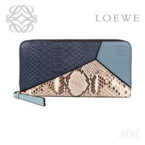 LOEWE★ロエベ Puzzle Zip Around Wallet Stone Blue/Multicolor