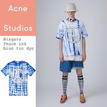 Acne Niagara Peace inkblue tie-dye ピースTシャツインクブルー