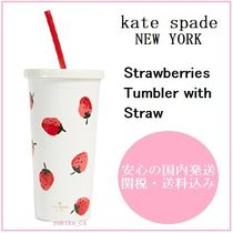 【国内発送】Strawberries Tumbler with Straw セール