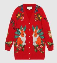 GUCCI グッチOversize embroidered wool cardigan