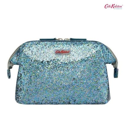 Cath Kidston メイクポーチ Cath Kidston★FRAMED COSMETIC BAG IN COATED GLITTER