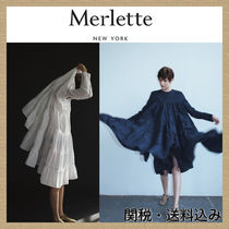 【Merlette】Essaouria Tiered Dress Navy/white