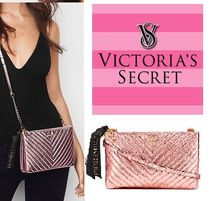 VSV-Quilt Metallic Crackle Glam Crossbody ショルダーバッグ