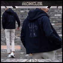 【MONCLER】17AW GRENOBLE ビッグロゴ ジップアップパーカー/EMS