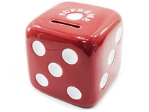 11A/W Supreme Ceramic Dice Coin Bank Red 貯金箱 サイコロ