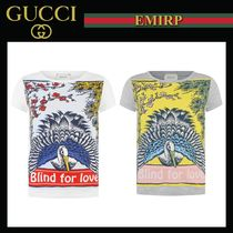 18SS☆GUCCI★大人もOK☆Blind for LoveバードプリントTシャツ★