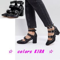 ASOS TOUGAN Studded Mid Heeled Shoes♪