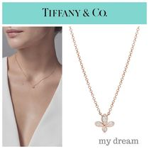 【Tiffany】 FLEUR DE LIS Pendant in 18k Rose Gold .09ct