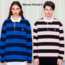 ★STEREO VINYLS COLLECTION★ SS18Peanuts Stripe Rugby Shirts