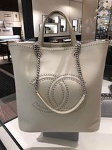 """2018SS最新作★CHANEL★COCO EYELETS"""" LARGE SHOPPING TOTE 各色"""