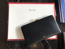 【CELINE】18SS新作 Clasp Large wallet on Gold Chain (Black)