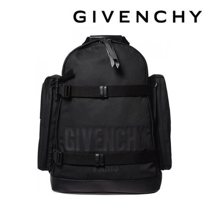 GIVENCHY バックパック・リュック GIVENCHY ジバンシィ リュック メンズ ブラック ナイロン 黒ロゴ