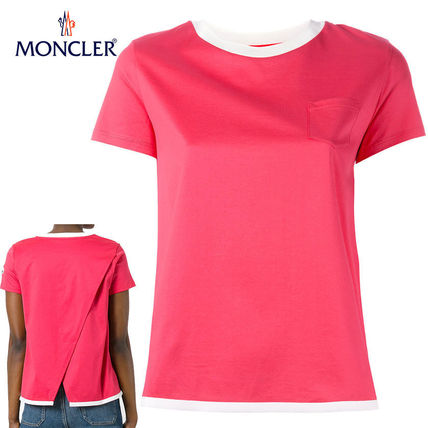 MONCLER Tシャツ・カットソー 【正規品保証】MONCLER★18春夏★MAGLIA T-SHIRT_ピンク
