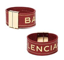【関税負担】 BALENCIAGA LEATHER BRACELET