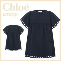 18SS☆Chloe★BRODERIE ANGLAISEコットンワンピース☆4-5Y★