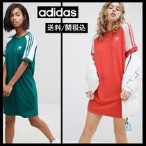 【adidas】Originals adicolor Three Stripe ラグラン袖 ワンピ