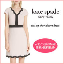 【国内発送】SCALLOP SHORT SLEEVE DRESS セール