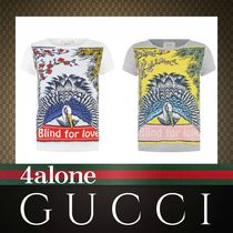 18SS★GUCCI☆大人もOK☆Blind for LoveバードプリントTシャツ