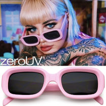 zeroUV(ゼロユーブイ) サングラス 送料無料zeroUV*RETRO BOLD DEEP INSET RECTANGLE FLAT LENS SUN