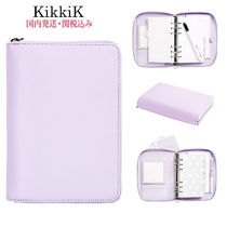 ☆Kikki.K☆LEATHER PERSONAL ZIP PLANNER(M) LILAC 国内発