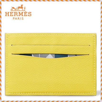 HERMES カードケース・名刺入れ 希少 HERMES《CitizenTwill》カードケース ライム H073776CAAA